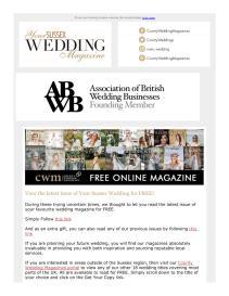 Your Sussex Wedding magazine - February 2021 newsletter