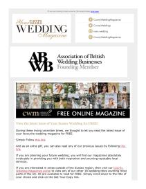 Your Sussex Wedding magazine - April 2021 newsletter