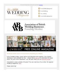 Your Sussex Wedding magazine - September 2021 newsletter