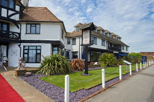 The Cooden Beach Hotel, Bexhill on Sea, front of hotel