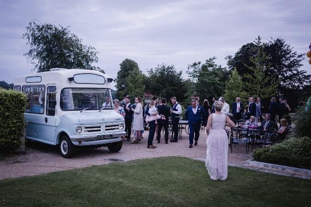 Guests enjoy ice cream van
