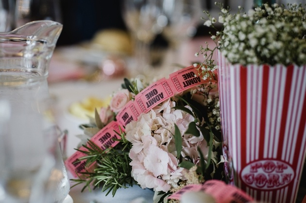 Movie themed table decorations