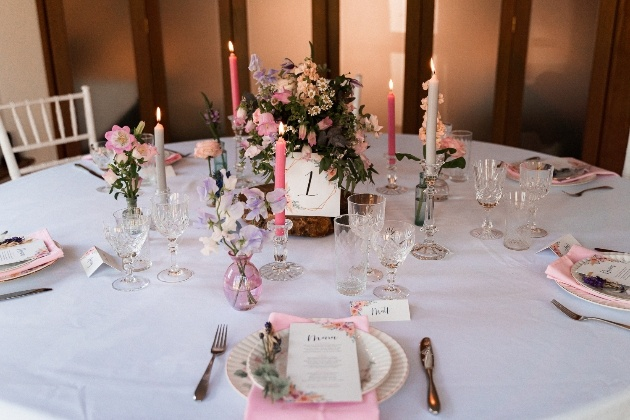 wedding reception table layout english wildflower style