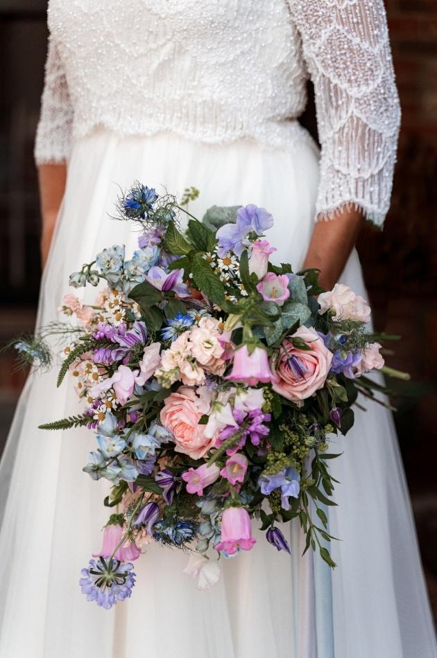 english wildflower wedding bouquet