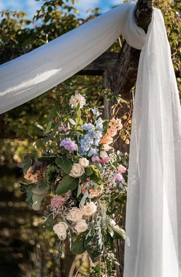 wedding arch floral design