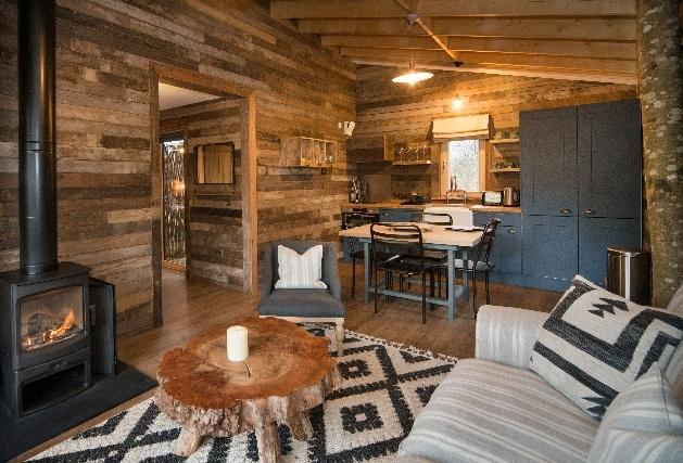 wooded lounge dark furniture