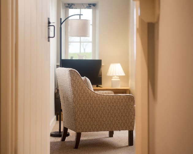 chair in hallway