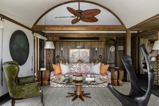 safari inspired lounge and furniture